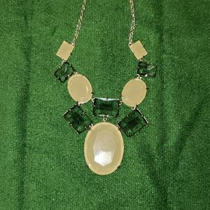 Kate Spade Cream and Smokey Statement Necklace